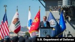 美国国防部长卡特2016年9月29日宣布亚洲再平衡进入第三阶段 (美国国防部照片)