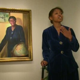 Taylor Marsh performing as educator and civil rights leader Mary McLeod Bethune at the National Portrait Gallery in Washington, D.C.