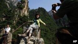 지난 2011년 북한 금강산을 찾은 중국인 관광객. (자료 사진)