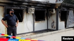 Izgorjela montažna covid bolnica u Tetovu.