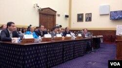 众议院外交委员会举行听证,关注中国对人权的持续侵犯(图片来源:VOA卫视记者 方方)
