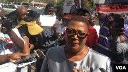 FILE: Thokozani Khupe of the MDC-T.