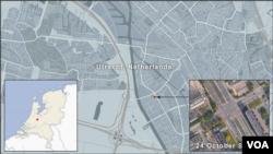 Peta Utrecht, Belanda