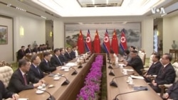 在与特朗普僵持不下之际习近平与金正恩在朝鲜会面