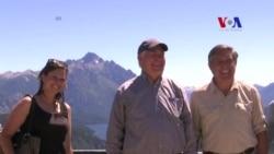 Tillerson visita parque nacional en Los Andes argentinos