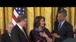 奧巴馬總統為21位傑出美國人頒發自由勳章