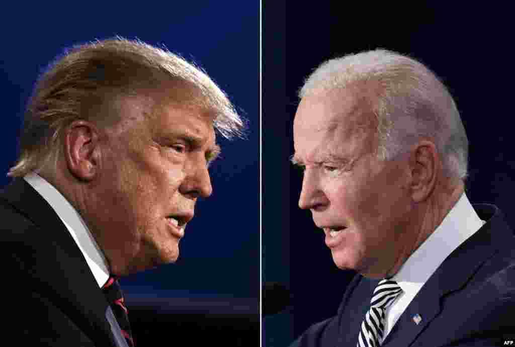"""El presidente Trump, dijo a su rival demócrata Biden que no había """"nada inteligente"""" en él, durante el primer debate entre los dos candidatos."""