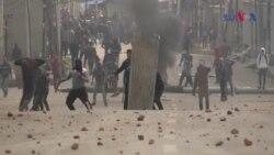 سرینگر میں مظاہرین اور پولیس کے درمیان جھڑپیں