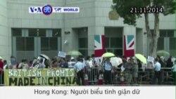 Người biểu tình Hong Kong giận dữ tụ tập trước Lãnh sự quán Anh (VOA60)