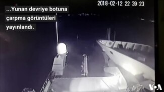 Türk-Yunan Sahil Güvenlik Gemilerinin Çarpışma Görüntüsü