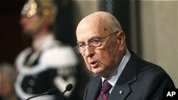 조르지오 나폴리타노 이탈리아 대통령(자료사진)