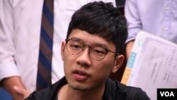香港民主派前立法會議員羅冠聰 ( 美國之音湯惠芸拍攝)
