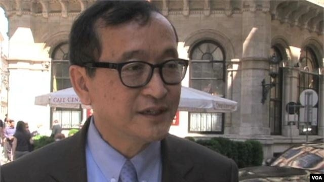 Cambodian opposition leader Sam Rainsy