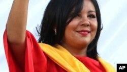 Gisela Mota yayinda aka rantsar da ita ranar Jan. 1, 2016.