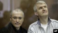Михаил Ходорковский и Платон Лебедев. Архивное фото, 2010г.