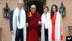 Dalai Lama Meets Former President Bush