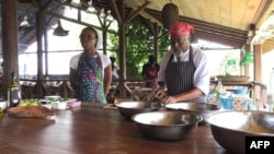 Le chef cuisinier, Joao Carlos Silva, à Sao Tomé, le 3 janvier 2018.