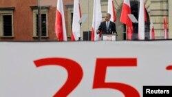 Обама говори во Варшава по повод првите делумно слободни извори во Полска во 1989-та