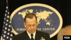El jefe del Estado Mayor Conjunto de Estados Unidos, almirante Michael Mullen