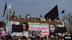 نن د جمعې ورځ په اسلام آباد کې د پښتون احتجاج نهمه ورځ وه