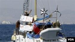 'Irene' yang mengangkut sembilan aktivis Yahudi dari Israel, Eropa dan AS berlayar menuju Gaza dari Siprus Utara.