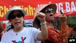 베트남 하노이에서 반 중국 시위가 열리고 있다. (자료사진)