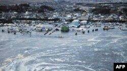 Nước xoáy gần thành phố Oarai, đông bắc Nhật Bản, 11/3/2011