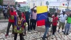 Kap-Ayisyen: Manifestan Opozisyon yo Kondane Vòt Ayiti Kont Rejim Nicolas Madura a nan TIAR la