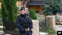 체코 브르노에서 살인 사건이 일어난 주택. 미국인 용의자 케빈 달그렌은 24일 미국 워싱턴 공항에서 체포됐다.