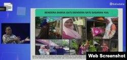 Pemkab Bantaeng melakukan inovasi Saskia untuk mencegah stunting di wilayahnya. Screenshot: VOA/Yudha satriawan