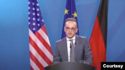 德國外長馬斯2021年3月9日通過視頻參與布魯金斯學會的一場討論會(布魯金斯學會視頻截圖)