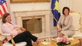 Vizita e ndihmës sekretares Nuland në Prishtinë