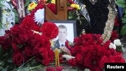 24일 러시아 브란스크 지역에서 터키에 의해 격추된 전투기 조종사의 장례식이 거행되고 있다.