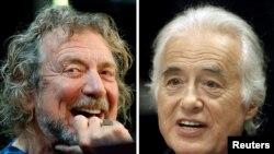 """Robert Plant (izq.) vocalista de Led Zeppelin, y el guitarrista de la banda británica Jimmy Page (der.) dijeron que """"Stairway"""", de la cual son autores, es original."""