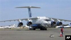 載有9名機組成員的阿塞拜疆貨運飛機在阿富汗東部的山上墜毀﹐圖為由絲路航空公司提供同類型的貨運飛機圖片。