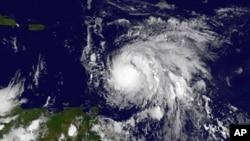 L'ouragan Maria vu par un satellite, pris par la Nasa, le 17 septembre 2017.