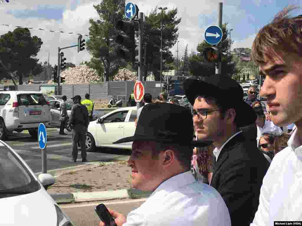 مهمانان در مراسم حضور پرزیدنت ترامپ در موزه اسرائیل
