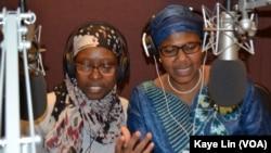 """Jamila Fagge (Left) and Halima Djimrao-Kane ( Right) host their show, """"Yau Da Gobe"""" in Washington DC."""