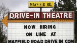 The Mayfield Drive-In movie theater in Chardon, Ohio put up this sign earlier this year
