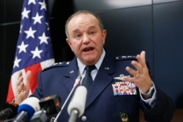 U.S. General Philip Breedlove, NATO Supreme Allied Commander Europe, speaks during a news conference in Kyiv, Nov. 26, 2014.
