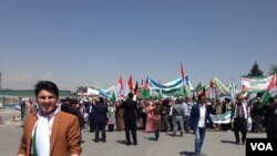 درین مظاهره که از سوی اتحادیه ملی کارگران افغانستان سازماندهی شده بود صدها تن از کارگران افغان شرکت نموده بودند