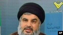 Hezbollah's leader, Hassan Nasrallah, 30 Nov 2009