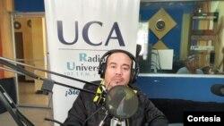 Nelsón Rodríguez, jefe de prensa de Radio Universidad de Nicaragia.