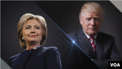 Republican U.S. presidential nominee Donald Trump and Democratic U.S. presidential nominee Hillary Clinton