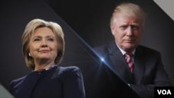 美國總統候選人希拉里·克林頓(左)和唐納德·川普