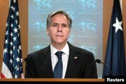 وزیر خارجہ انٹنی بلنکن نے افغانستان سے امریکی شہریوں کے انخلا سے متعلق واشنگٹن میں ایک نیوز کانفرنس میں تفصیلات بتائیں۔ 25 اگست 2021