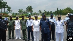 Des officiers de l'armée nigériane