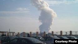 تصویری از انفجار سه سال پیش در مرکز مهمات جنوب غرب تهران