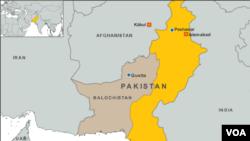 巴基斯坦奎达地图