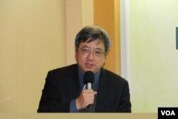 中华经济研究院第一研究所所长刘孟俊 (美国之音记者杨明拍摄)